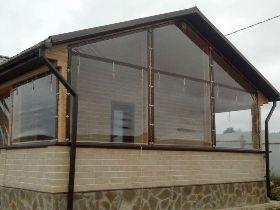 Прозрачные шторы ПВХ для веранды