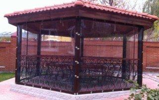 Прозрачные уличные шторы