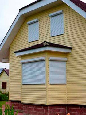 Металлические рольставни на окна на дачу цены