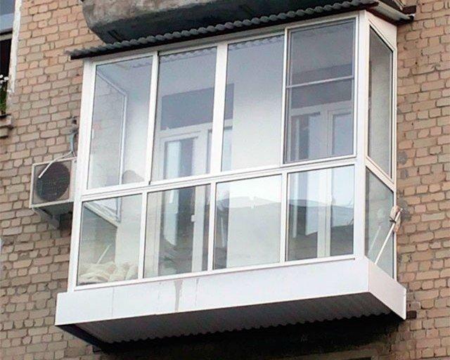 Холодный профиль для панорамного остекления балкона