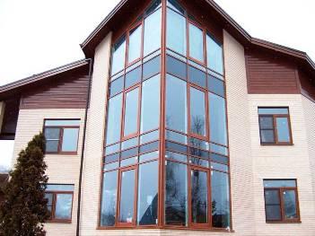 Остекление коттеджа алюминиевыми окнами