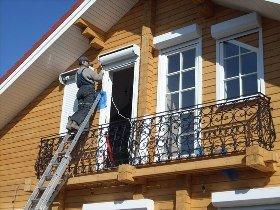 Рольставни на деревянный дом