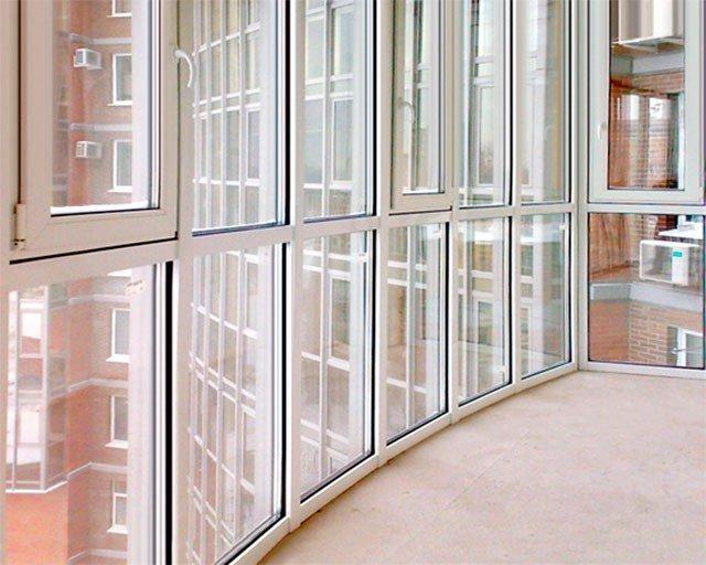 Теплый профиль для французского застекления балкона