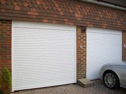 Рольставни вместо двери а гараж