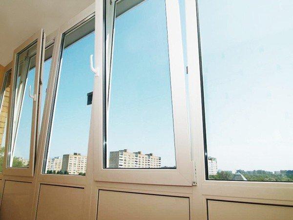 Остекление балконов стандарт