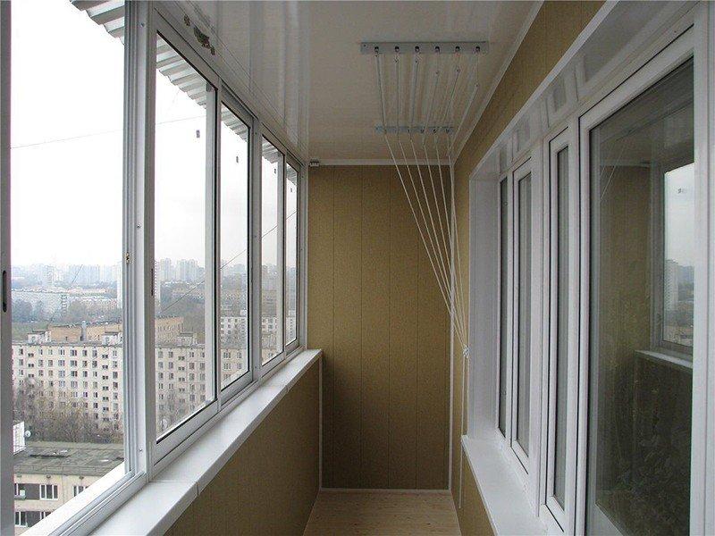 Остекление балконов эконом