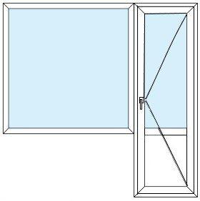 Блок балконный с глухой створкой