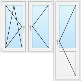 Блок с двумя поворотными створками