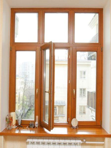 Деревянные евроокна в квартиру