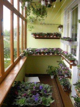 Полка на балкон для цветов