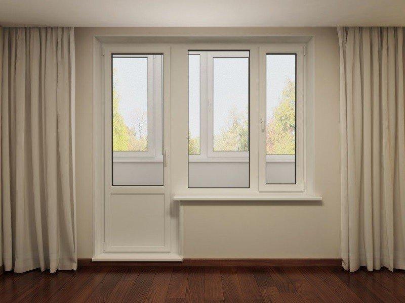 Дверь балконная одностворчатая