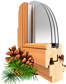 Окна из сосны купить