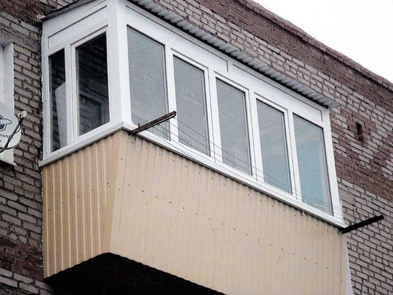Остекление балкона с выносом в г. Электросталь