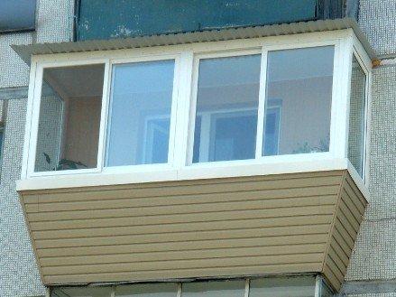 Отделка балкона сайдингом под ключ