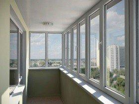 ПВХ застекление балкона