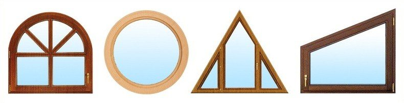 Нестандартные формы и размеры деревянных окон