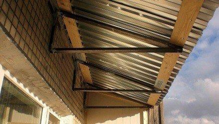Крыша балконная