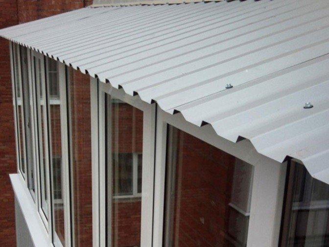 Крыша на балкон по ГОСТ