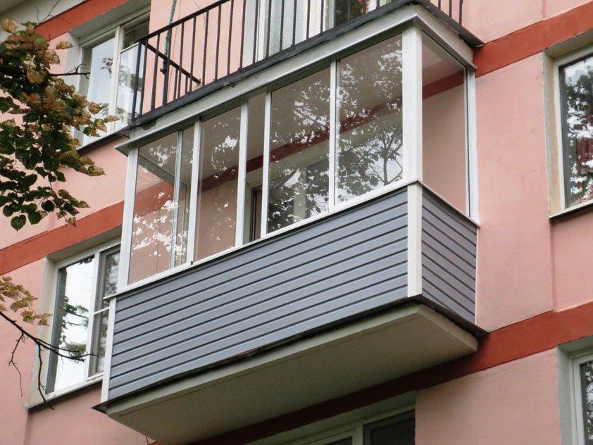 Классическое остекление балкона в г. Электросталь