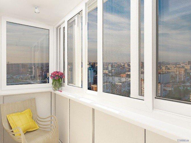 Алюминиевые окна на балкон по ГОСТ
