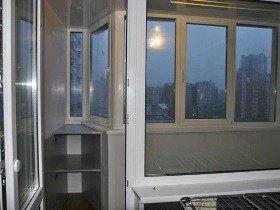 Балкон в доме П-44-т остекление