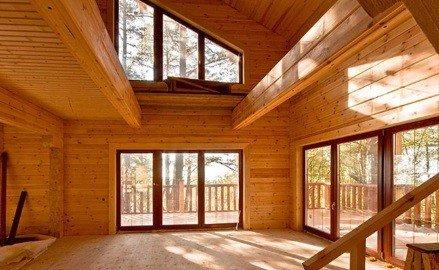 Окно в частном доме панорамное