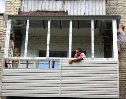 Крепление наружной обшивки балкона