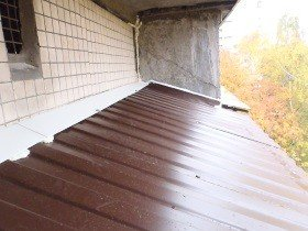 Крыша на балконе после ремонта