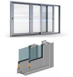 Окна алюминиевые на балкон холодные