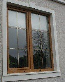 Окна с раскладкой ламинированные
