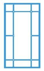 Первый вариант окна с раскладкой