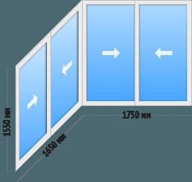 Балкон П-3 П-образный