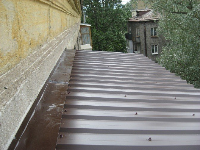 Ремонт крыши балкона по ГОСТ