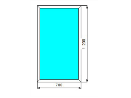 Стоимость окон со стеклопакетом алюминиевых глухая створка