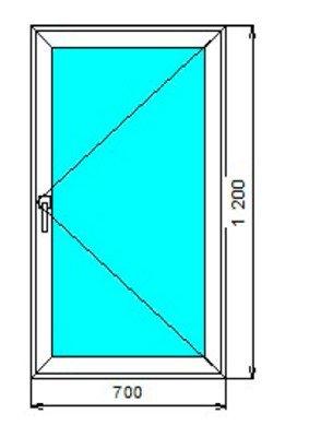 Стоимость окон со стеклопакетом алюминиевых распашная створка