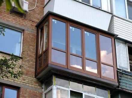 Теплое французское остекление балконов