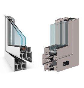 Теплые окна из алюминиевого профиля на балкон