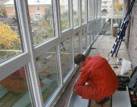 Укрепление балкона косынкой из швеллера
