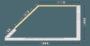 Остекление лоджии утюжок П44Т