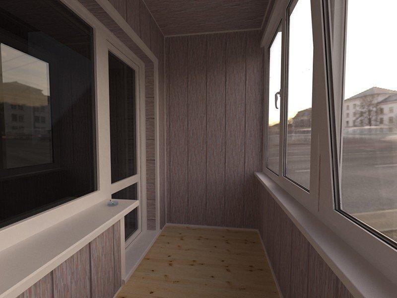 Отделка балкона вагонкой и панелями ПВХ на заказ