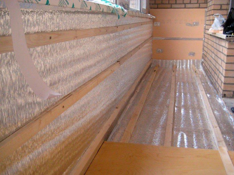 Утепление и отделка балкона под ключ