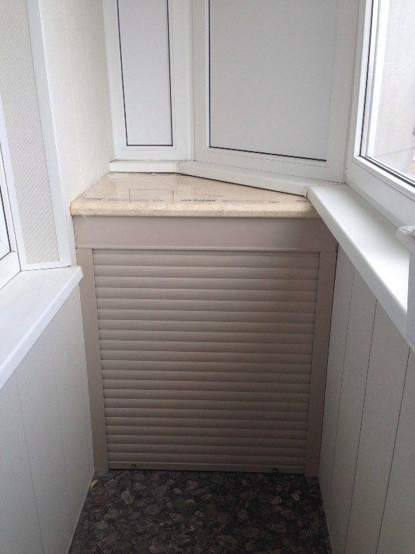 Мебель на балкон с рольставнями