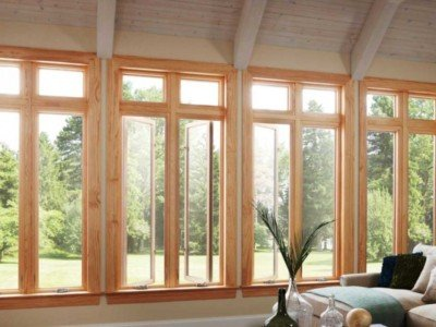 Деревянные стеклопакет из сосны