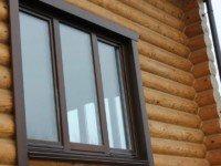 Деревянный стеклопакет в дом