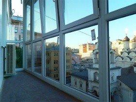 Французские окна на балкон распашные