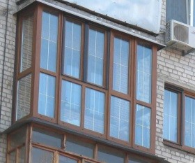 Французские окна с раскладкой на балкон