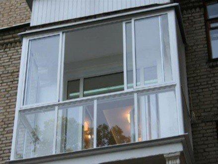 Французские раздвижные окна на балкон