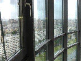 Французский балкон теплое алюминиевое остекление