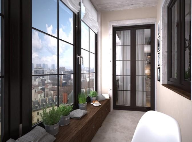 Французские окна на балкон по ГОСТ