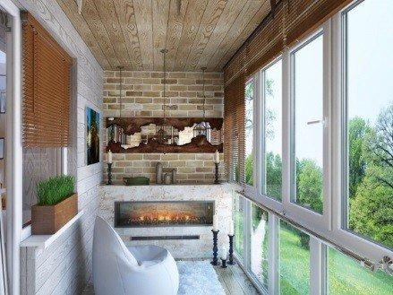 Панорамное остекление балконов окнами